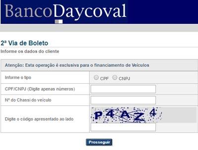 atualizar boleto banco daycoval