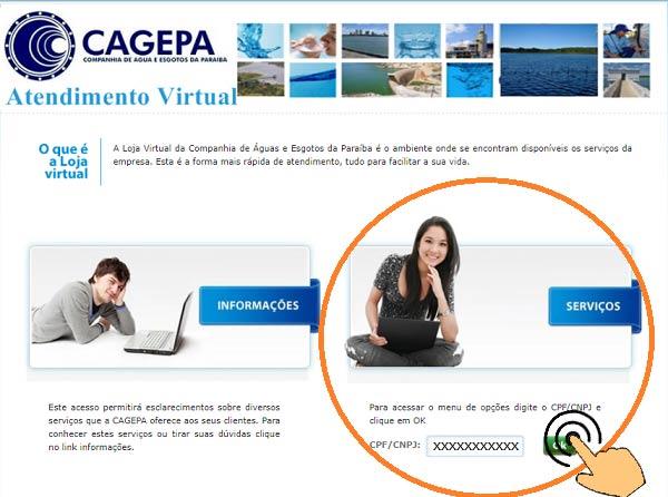 Cagepa agência virtual 2 via de conta